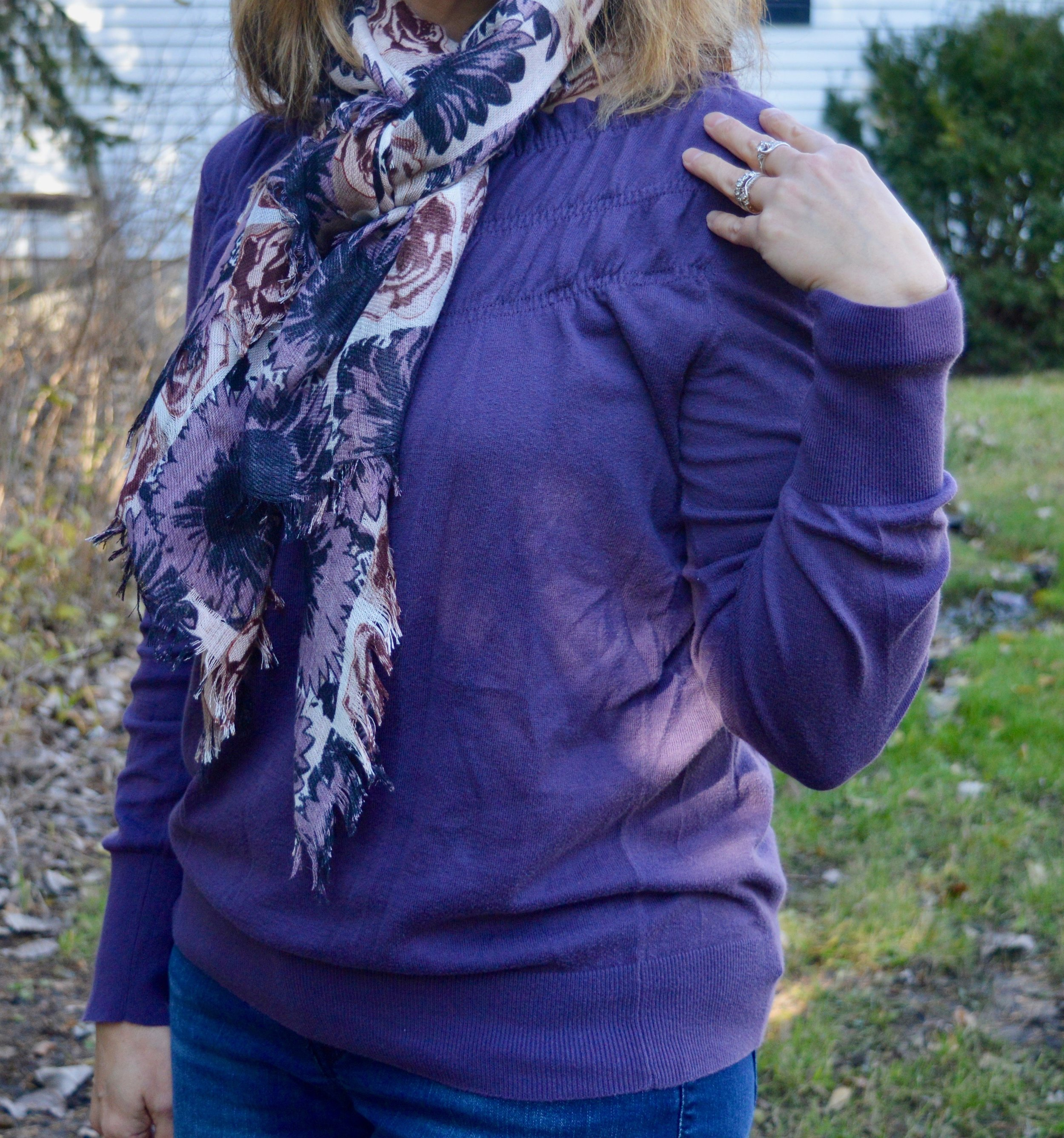 Layering love - wearing a scarf
