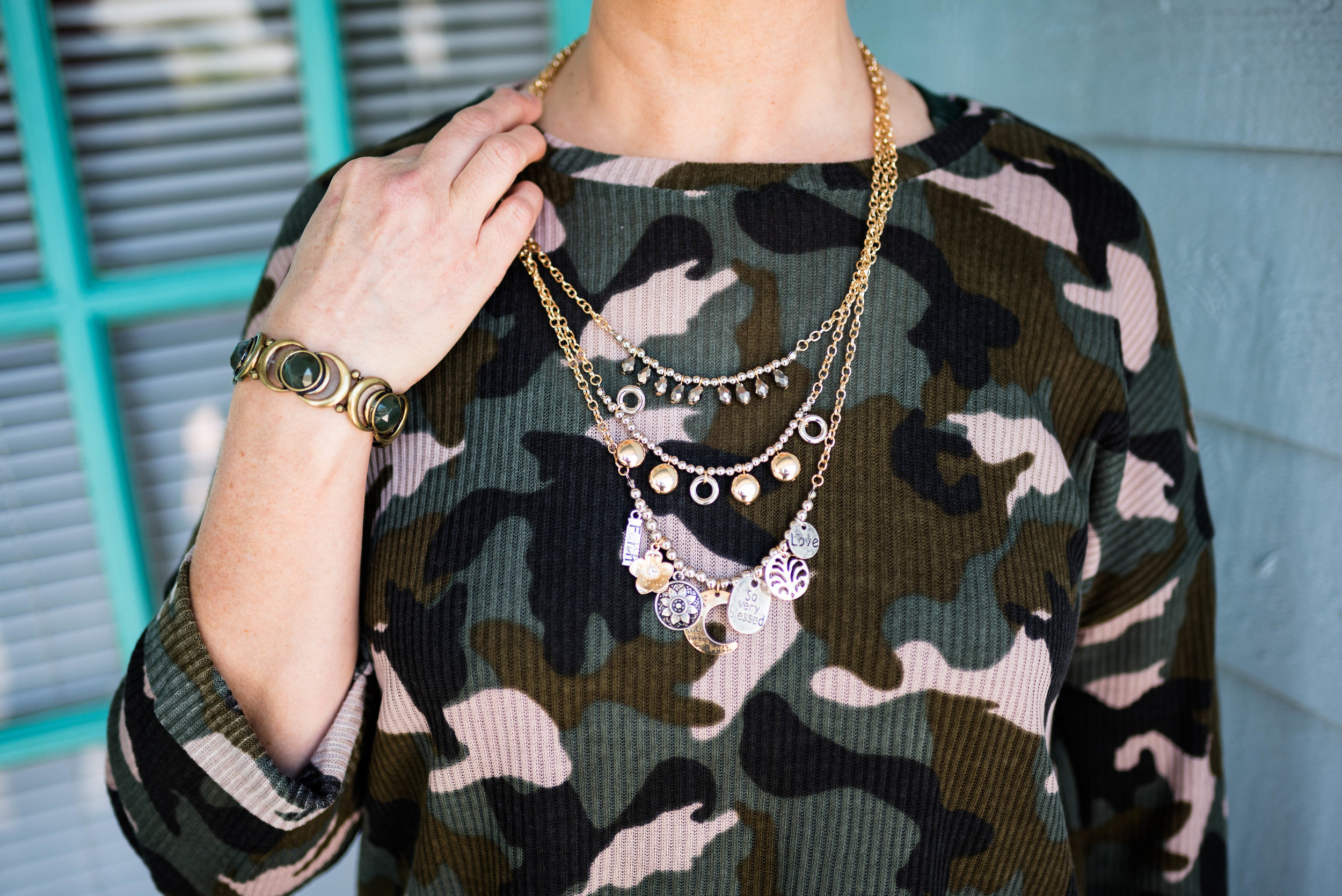 Working undercover - camouflage top