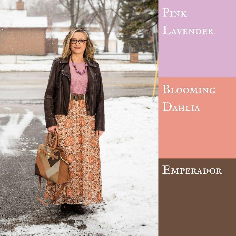 Pantone Spring 2018 - pink lavender, blooming dahlia and emperador
