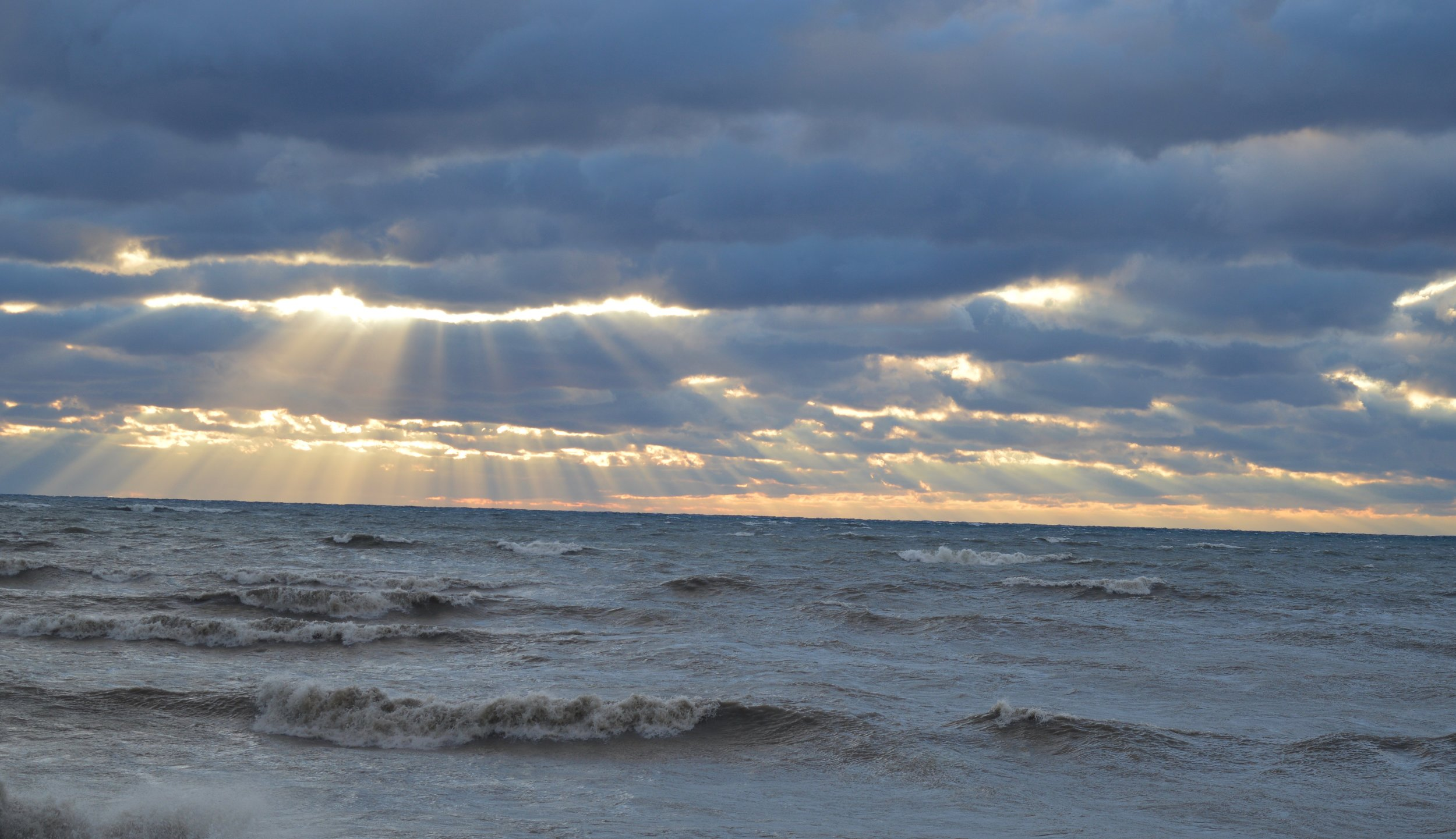 Lake Erie, sunset