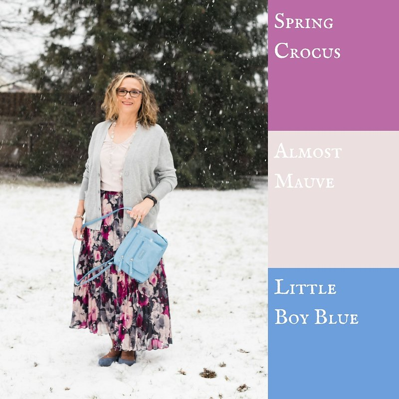Pantone Spring 2018 - spring crocus, almost mauve and little boy blue