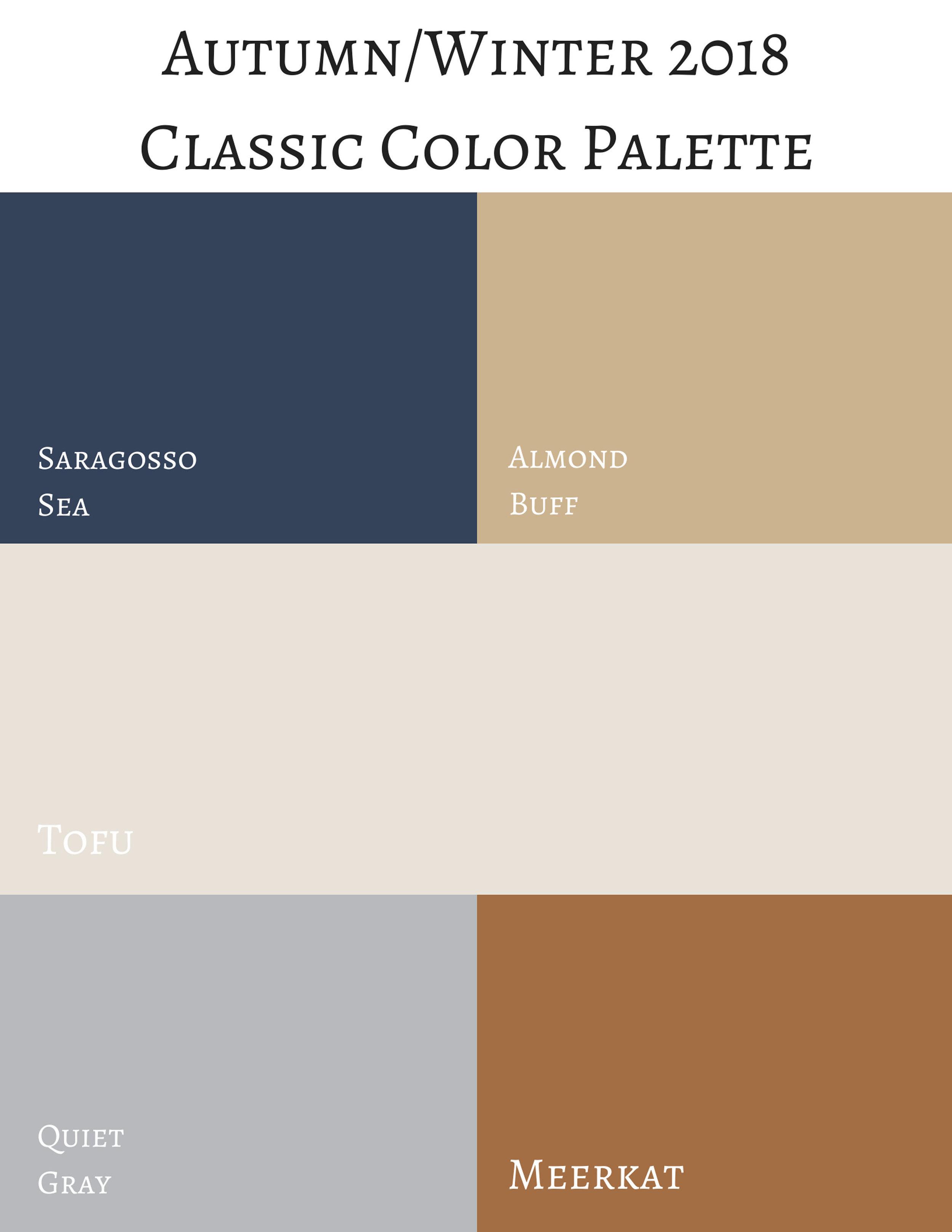 classic color palette - Pantone