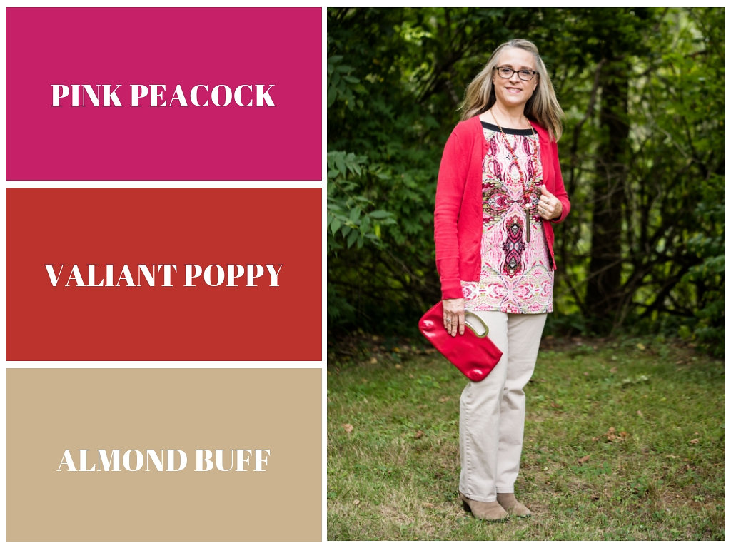 Pantone Fall 2018 - Pink Peacock, Valiant Poppy and Almond Buff