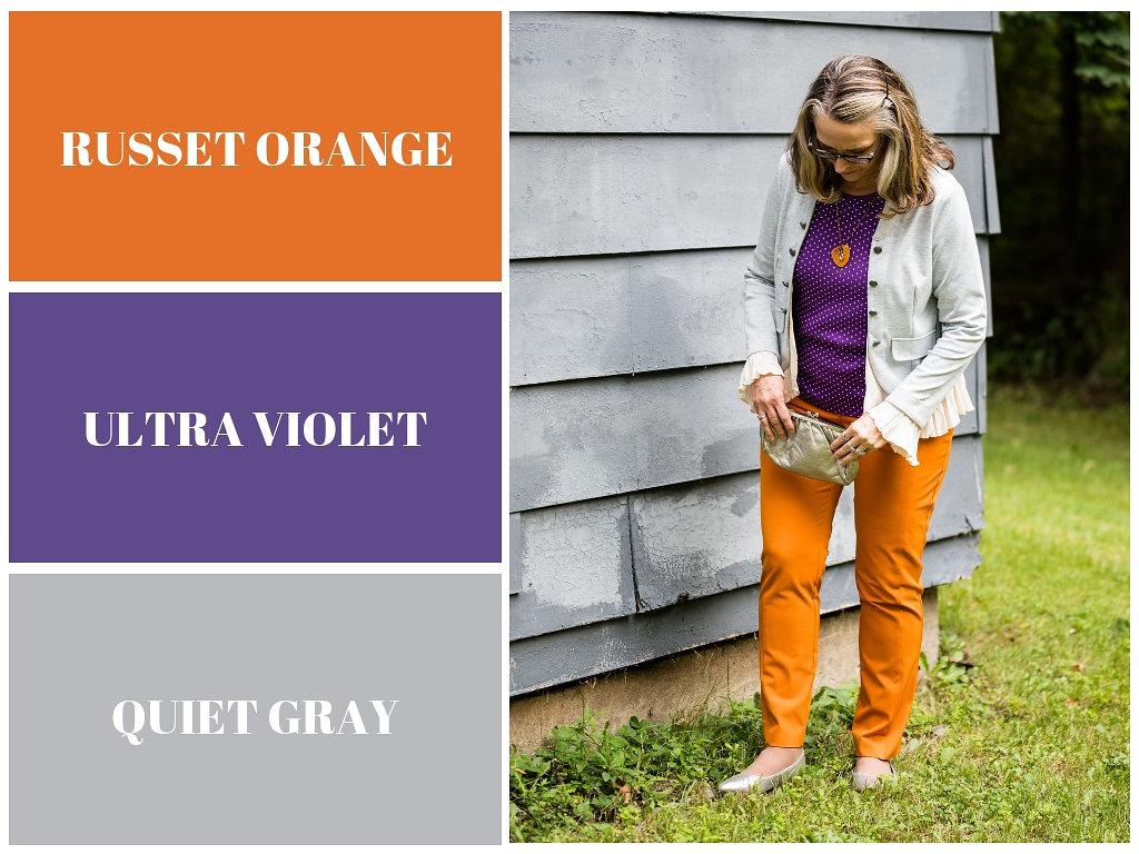 Pantone Fall 2018 - Russet Orange, Ultra Violet and Quiet Gray