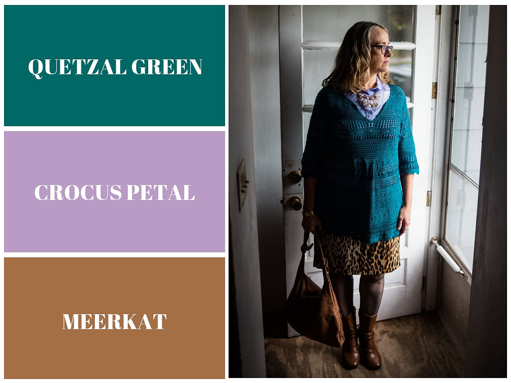Pantone Fall 2018 - Quetzal Green, Crocus Petal and Meerkat