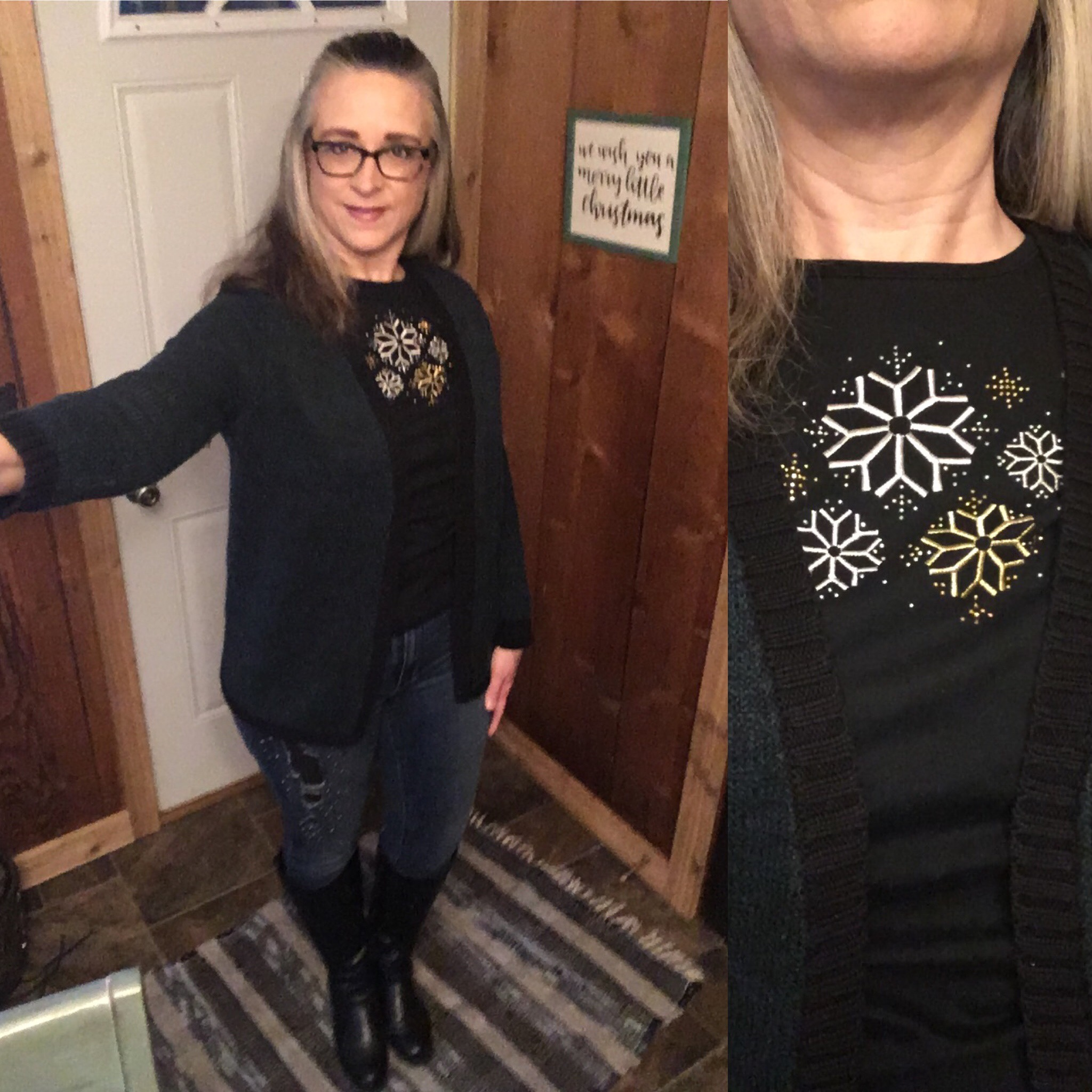 20 Days of Christmas - Metallic Snowflake sweater