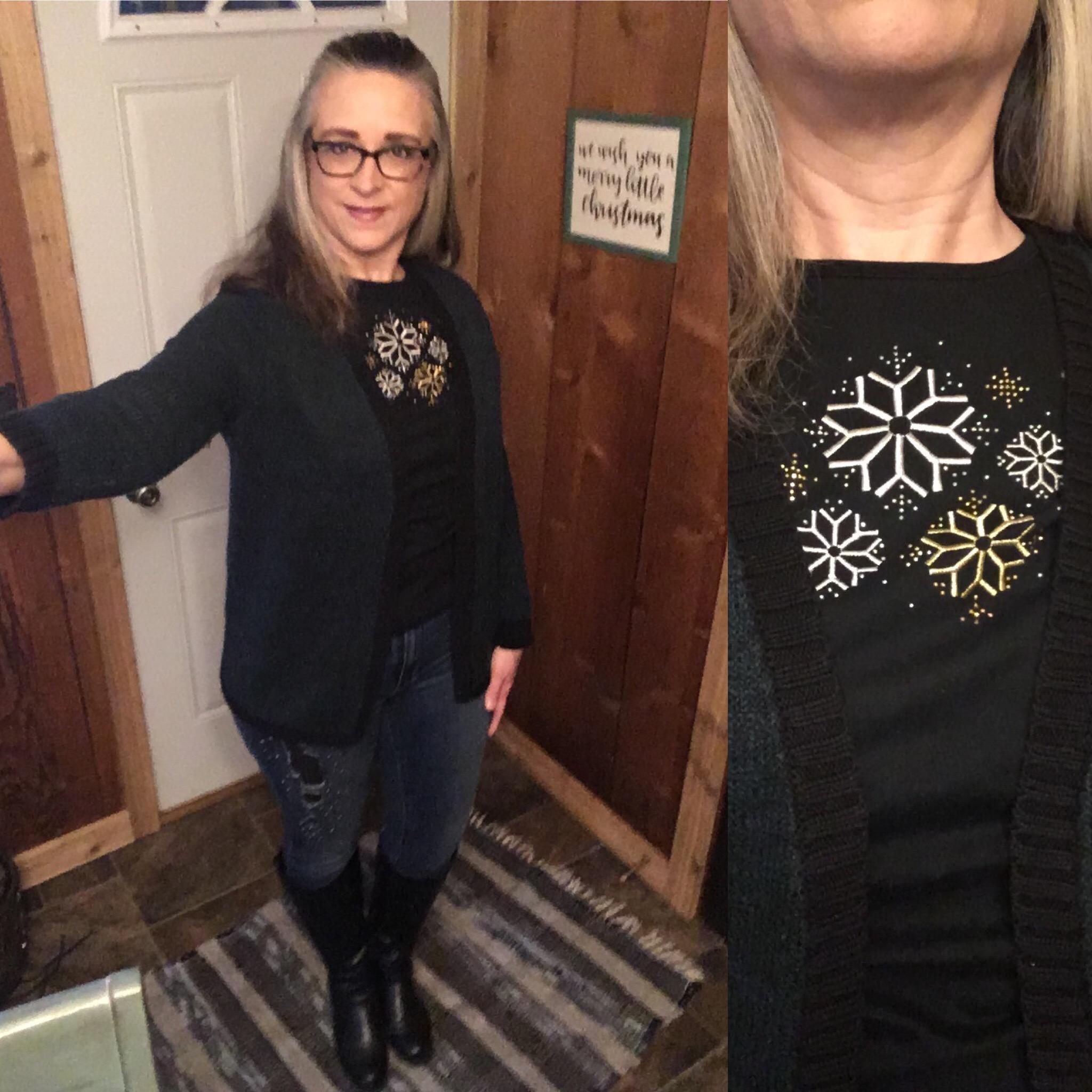 20 Days of Christmas - Metallic Snowflake sweater