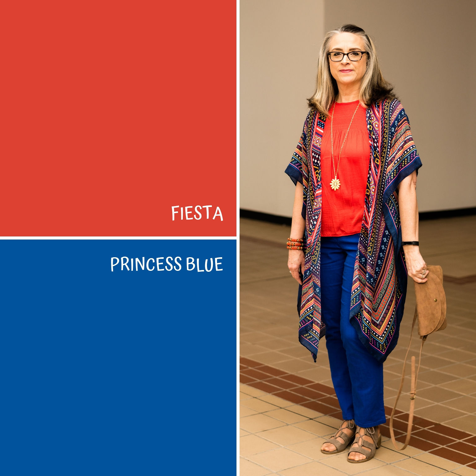 Pantone Spring/Summer - 2019 - Fiesta & Princess Blue