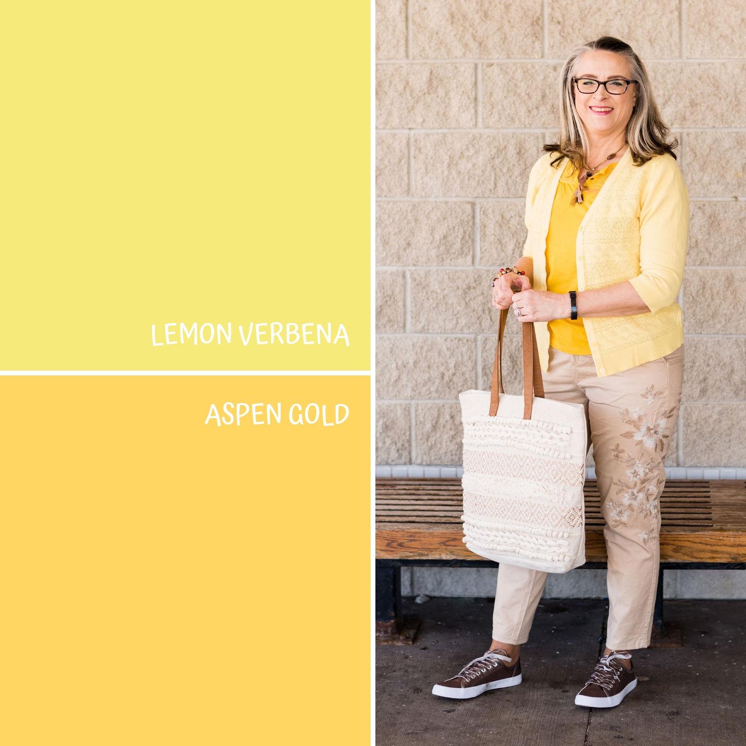 Pantone Spring/Summer - 2019 - Lemon Verbena & Aspen Gold