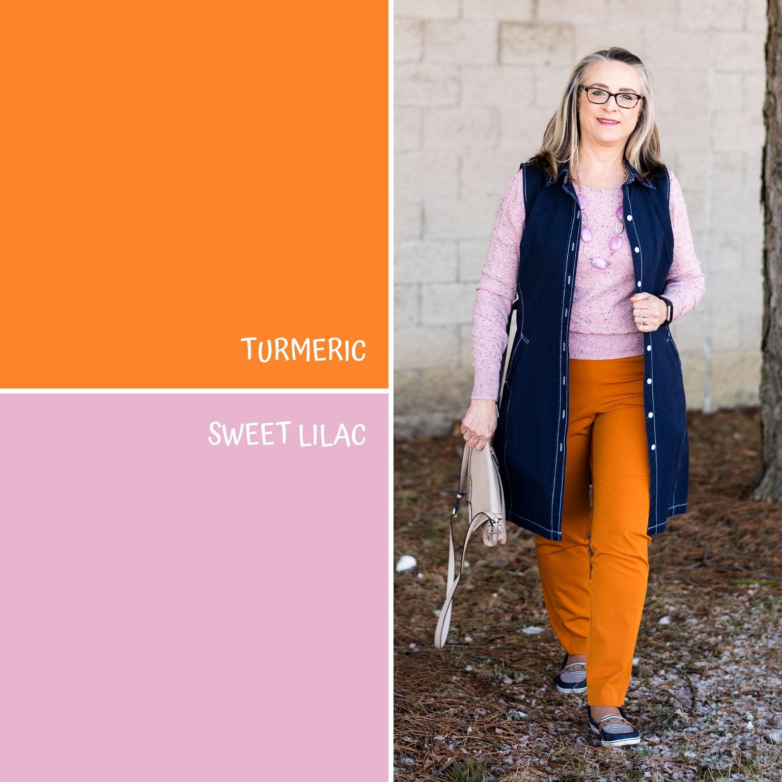Pantone Spring/Summer - 2019 - Turmeric & Sweet Lilac