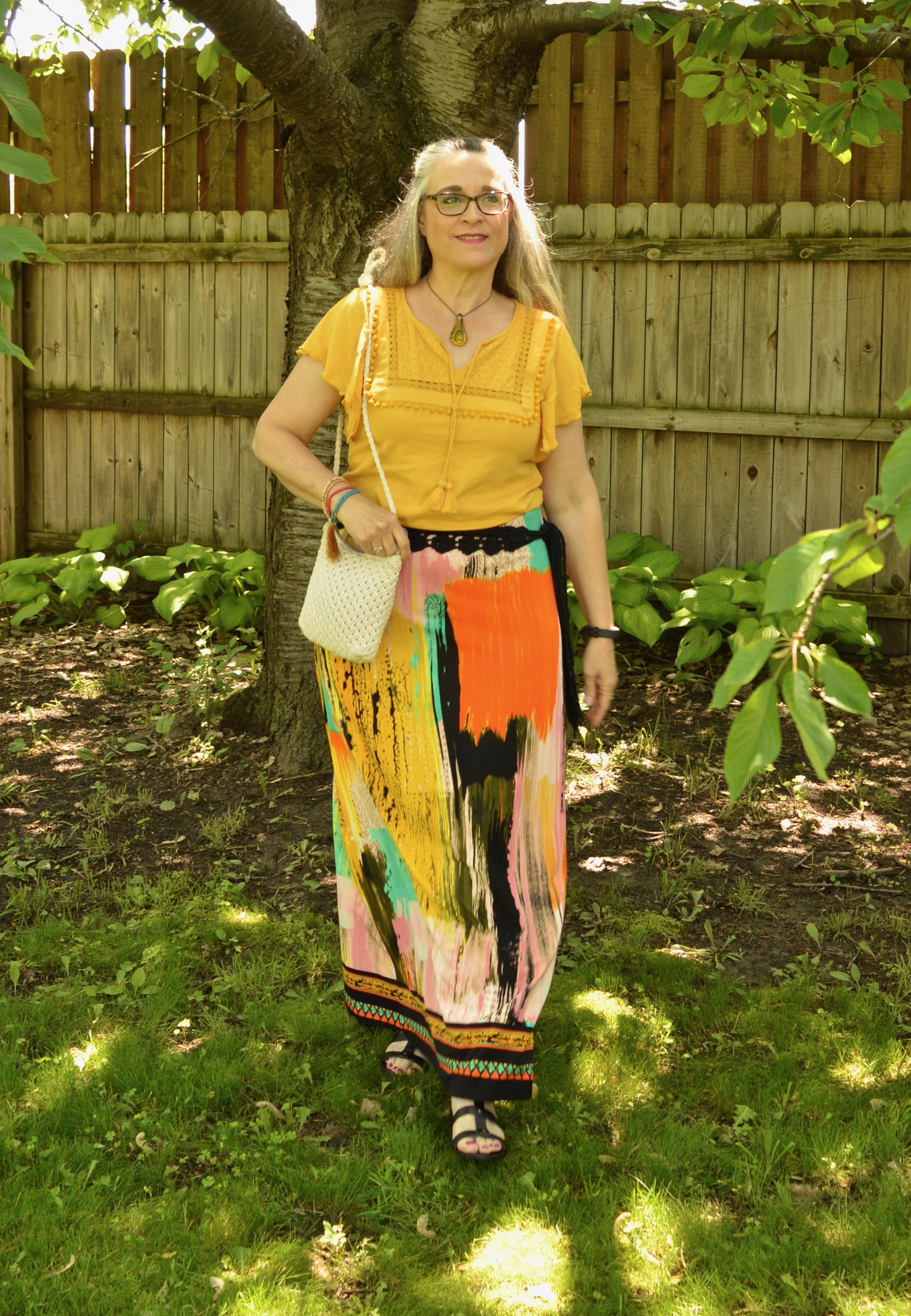 Summer pieces - water color maxi skirt
