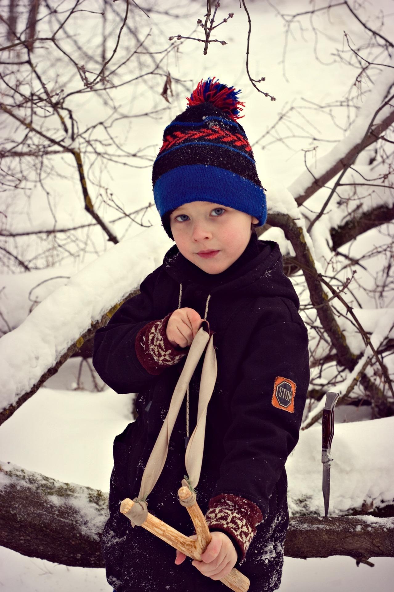 Pixabay - boy with slingshot