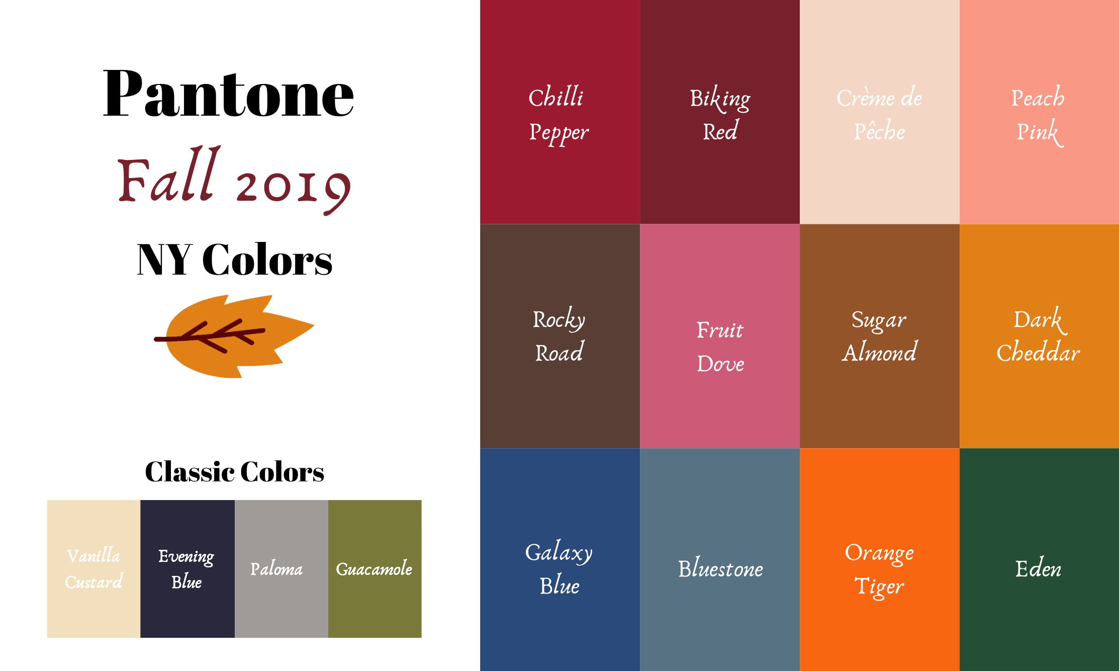 Pantone 2019 - Autumn/Winter