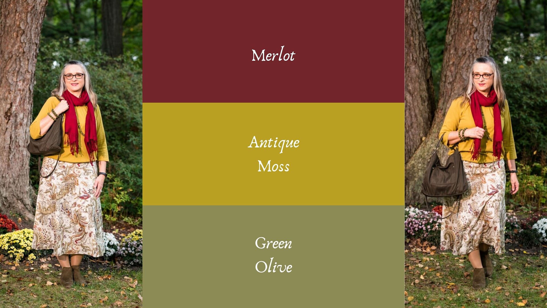 Pantone - Autumn/Winter - 2019 - Merlot and Antique Moss