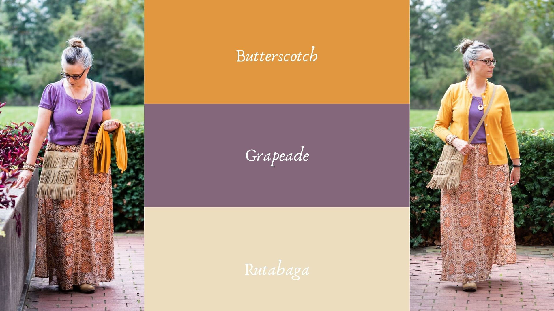 Pantone - 2019 - Autumn/ Winter - Butterscotch and Grapeade