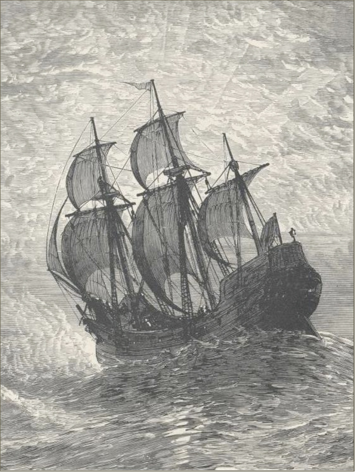 Engraving of the Mayflower
