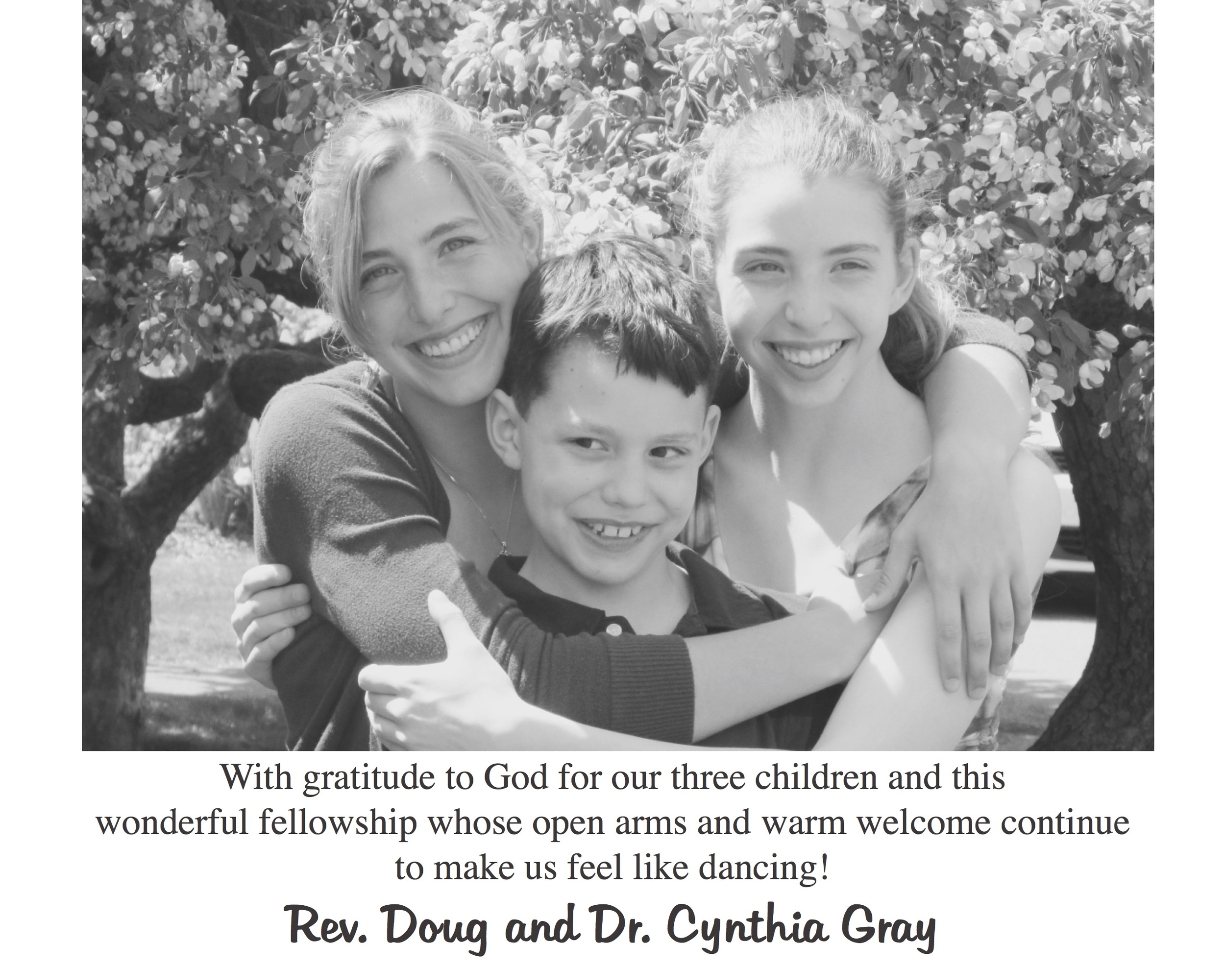 Rev. Doug and Dr. Cynthia Gray Family