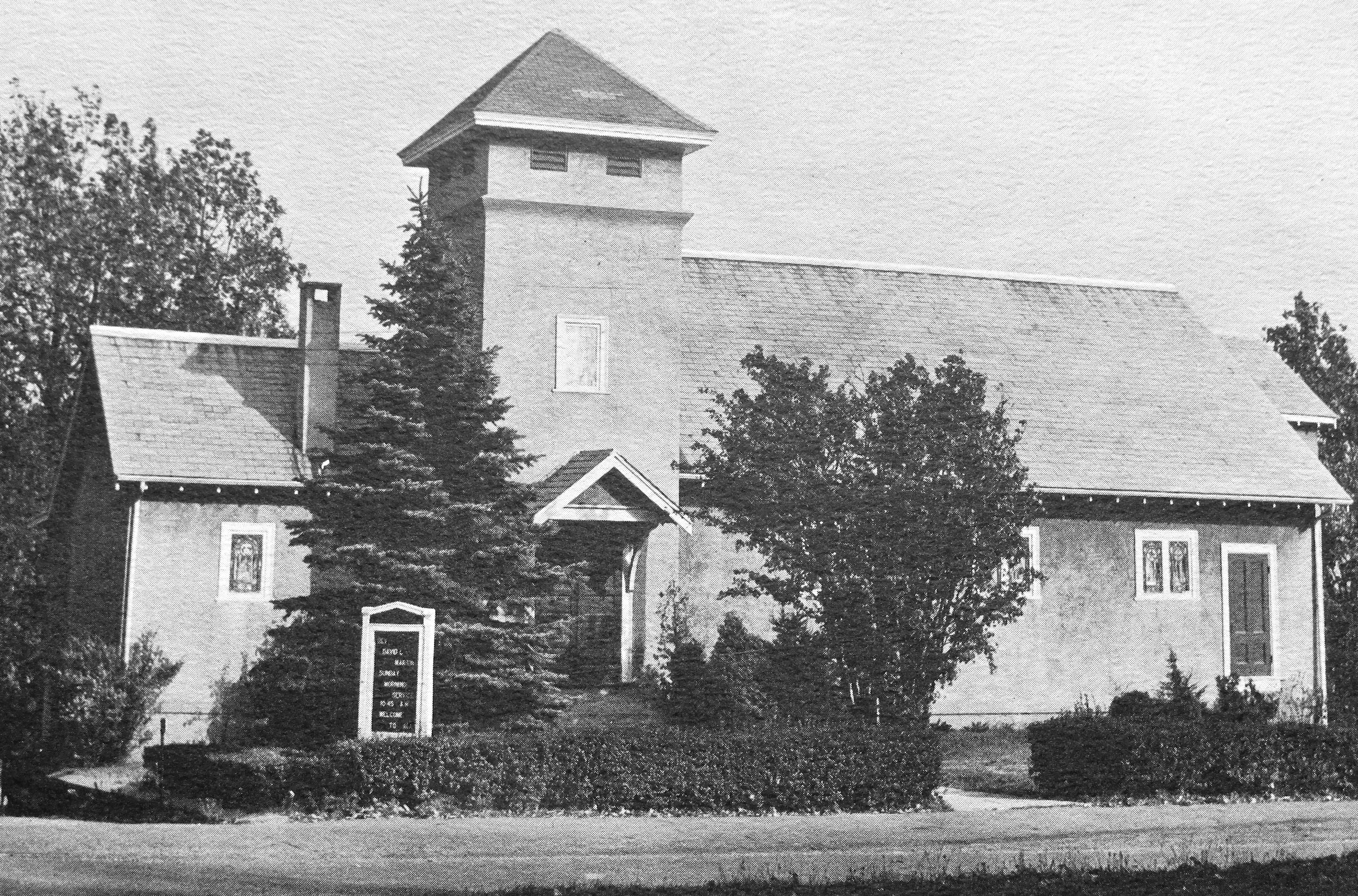 - The updated Church building as it looked in 1937. The footprint and layout of the building are the same. About this same time, the church built its parsonage next to the church.