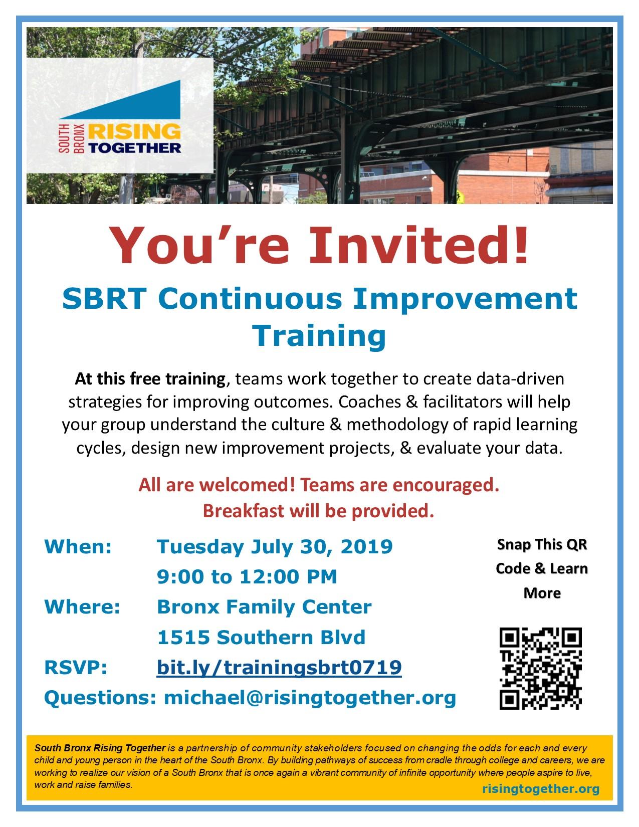 Flyer - SBRT Continuous Improvement Training - Michael Partis.jpg