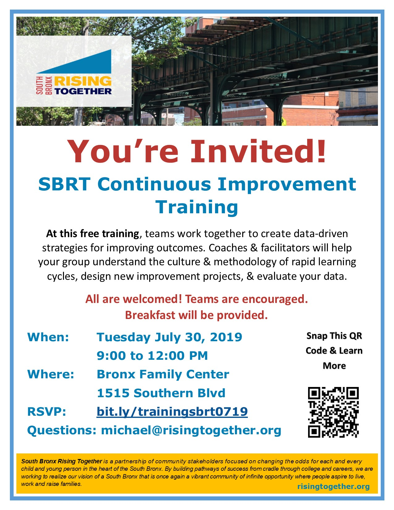 Flyer - SBRT Continuous Improvement Training - Michael Partis.jpg