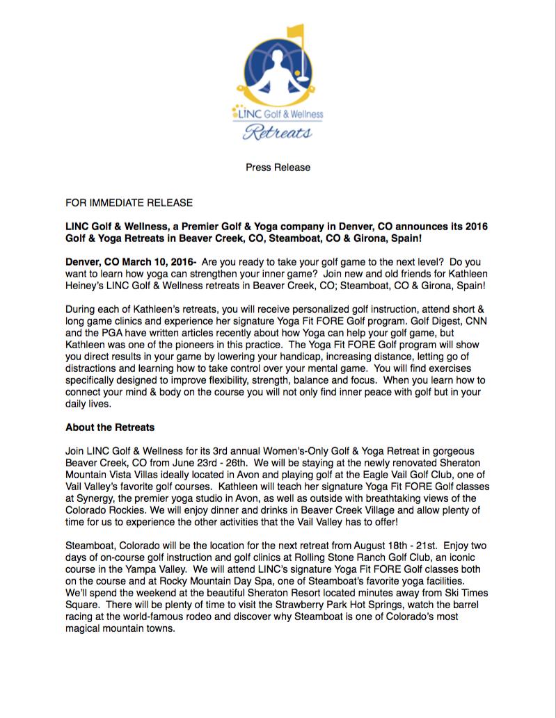 LINC Press Release