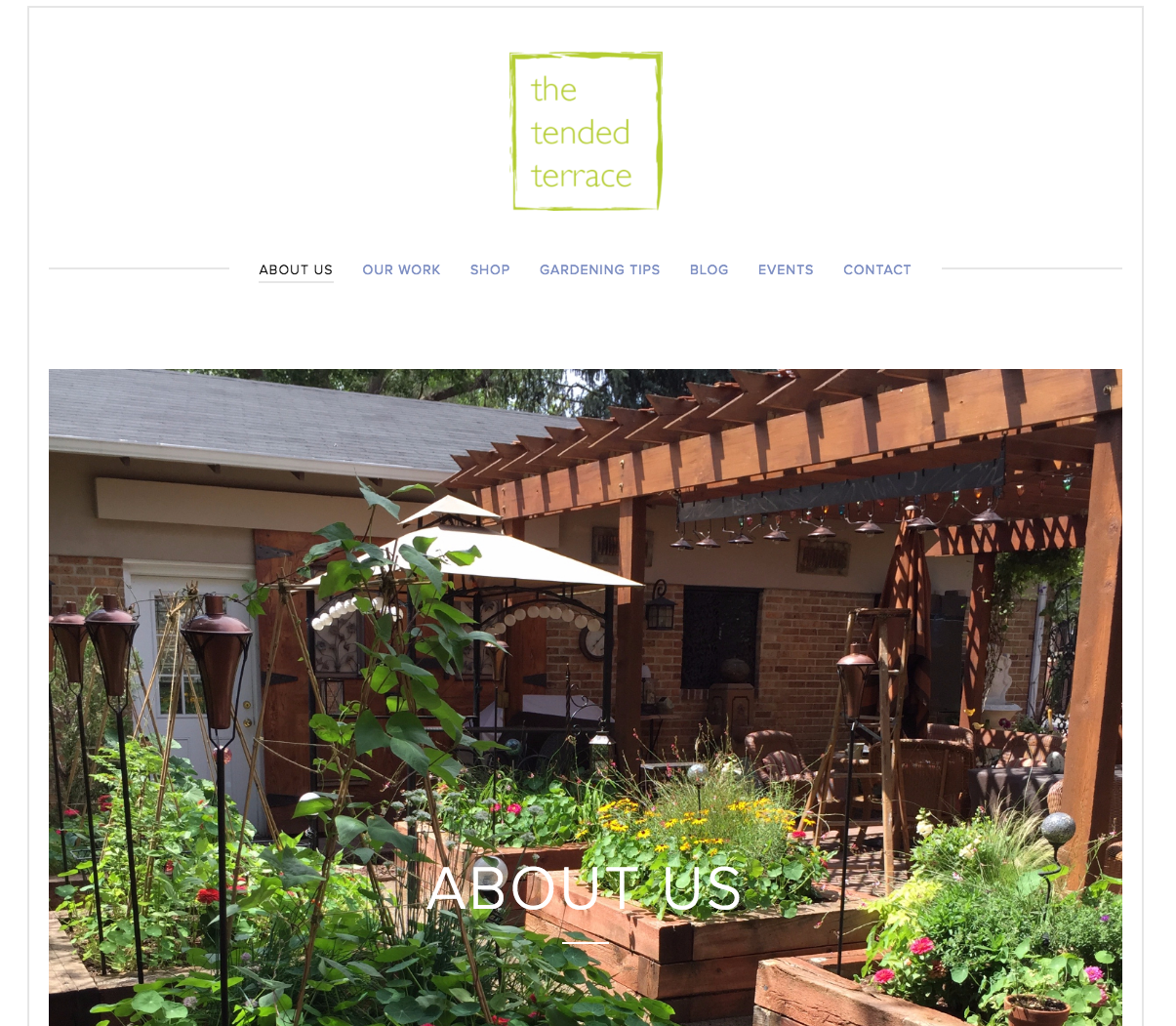 The Tended Terrace Website