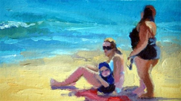 Beach Babes, oil (sold)