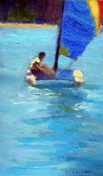 Into the Blue, oil (sold)