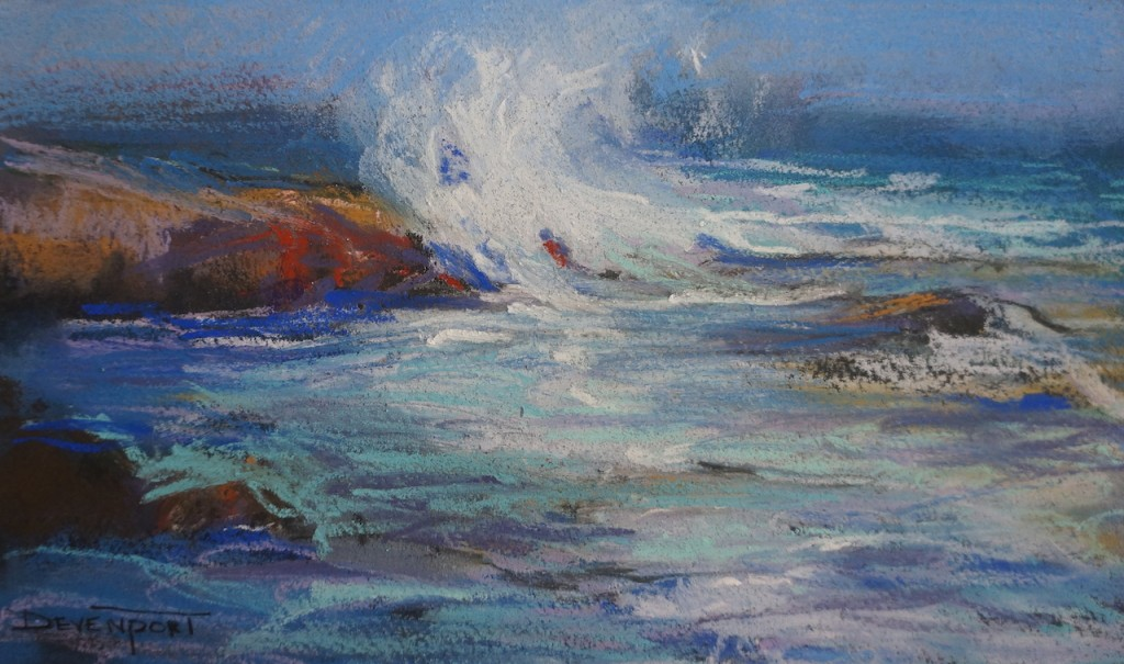 Seventh Wave, pastel (sold)