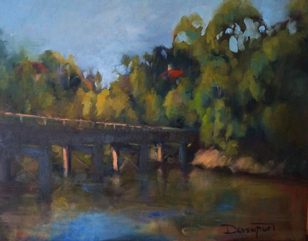 Windsor Bridge, oil (sold)