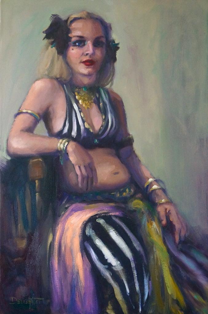 """""""Burlesque"""" oil on canvas"""