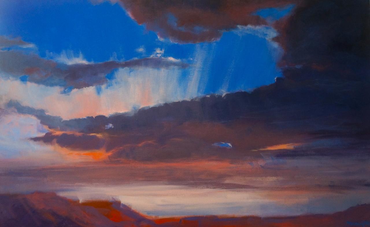 Silver Linings, acrylic on canvas, 4'x2.5'