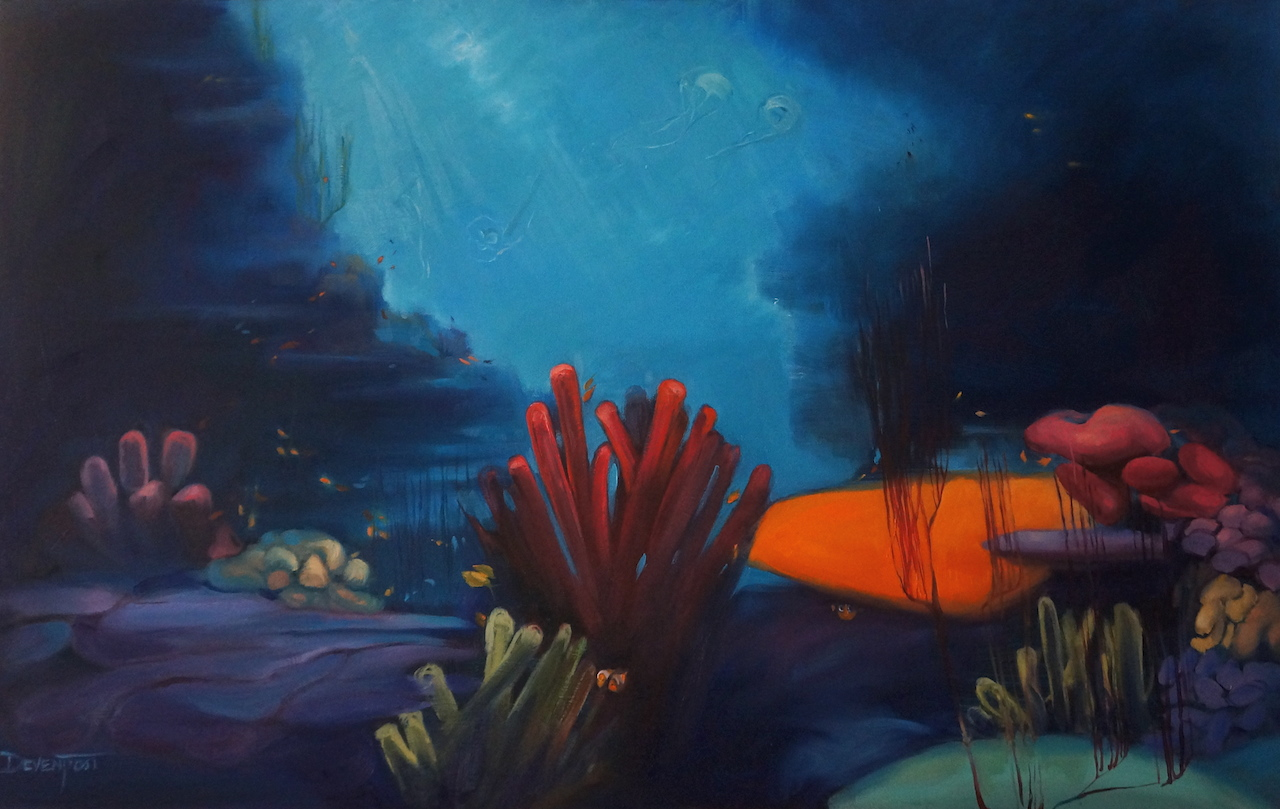 Finding Nemo, oil, 2.5'x4'