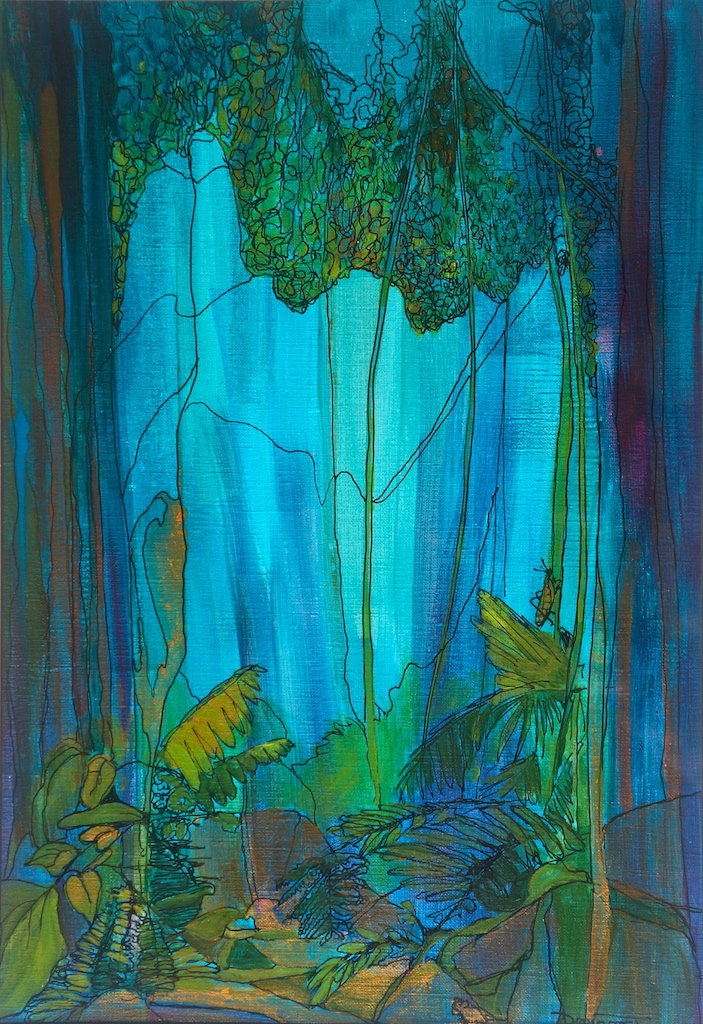 Tiffany Forest, A3 acrylic (sold)