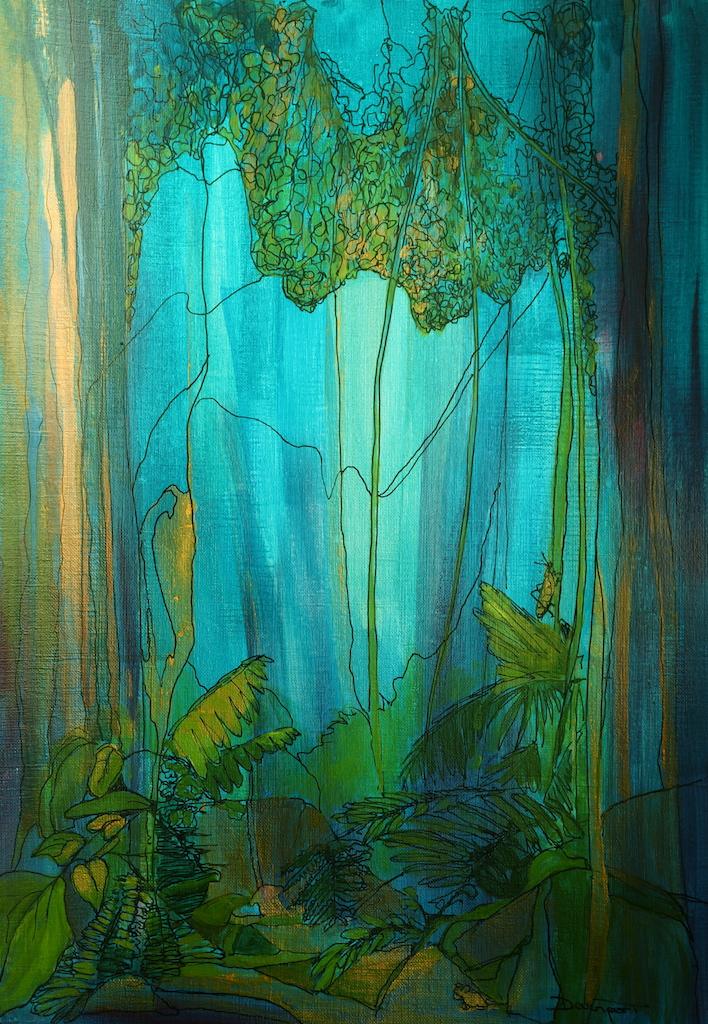 Tiffany Forest, acrylic