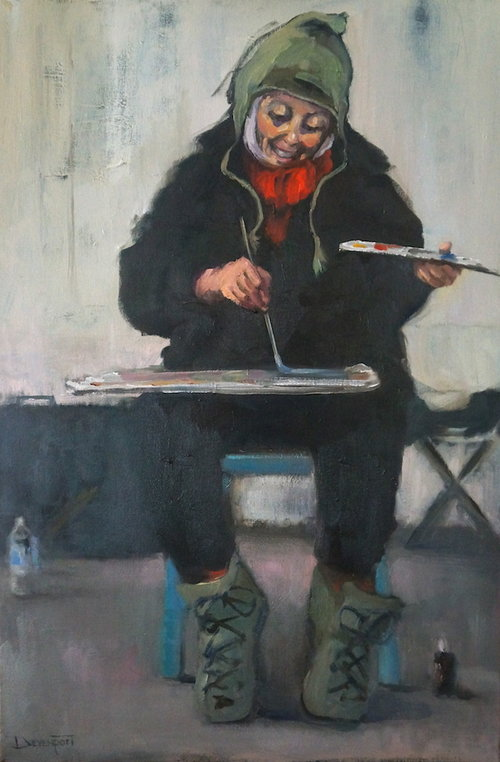The Happy Painter, oil