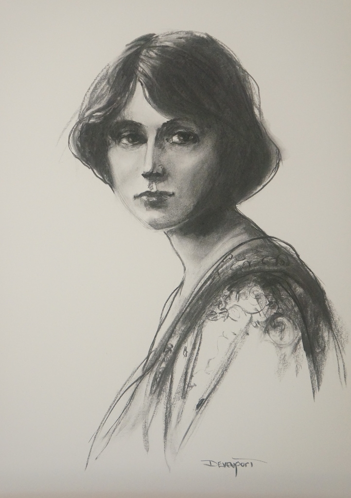 Emma, charcoal, Best in Show Award KAS (sold)