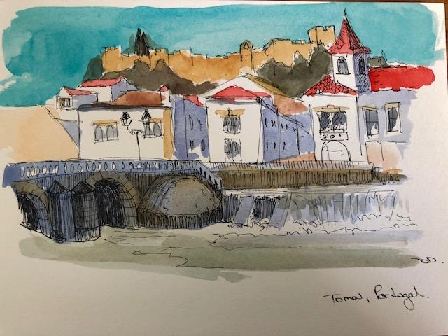 Tomar sketch, Portugal