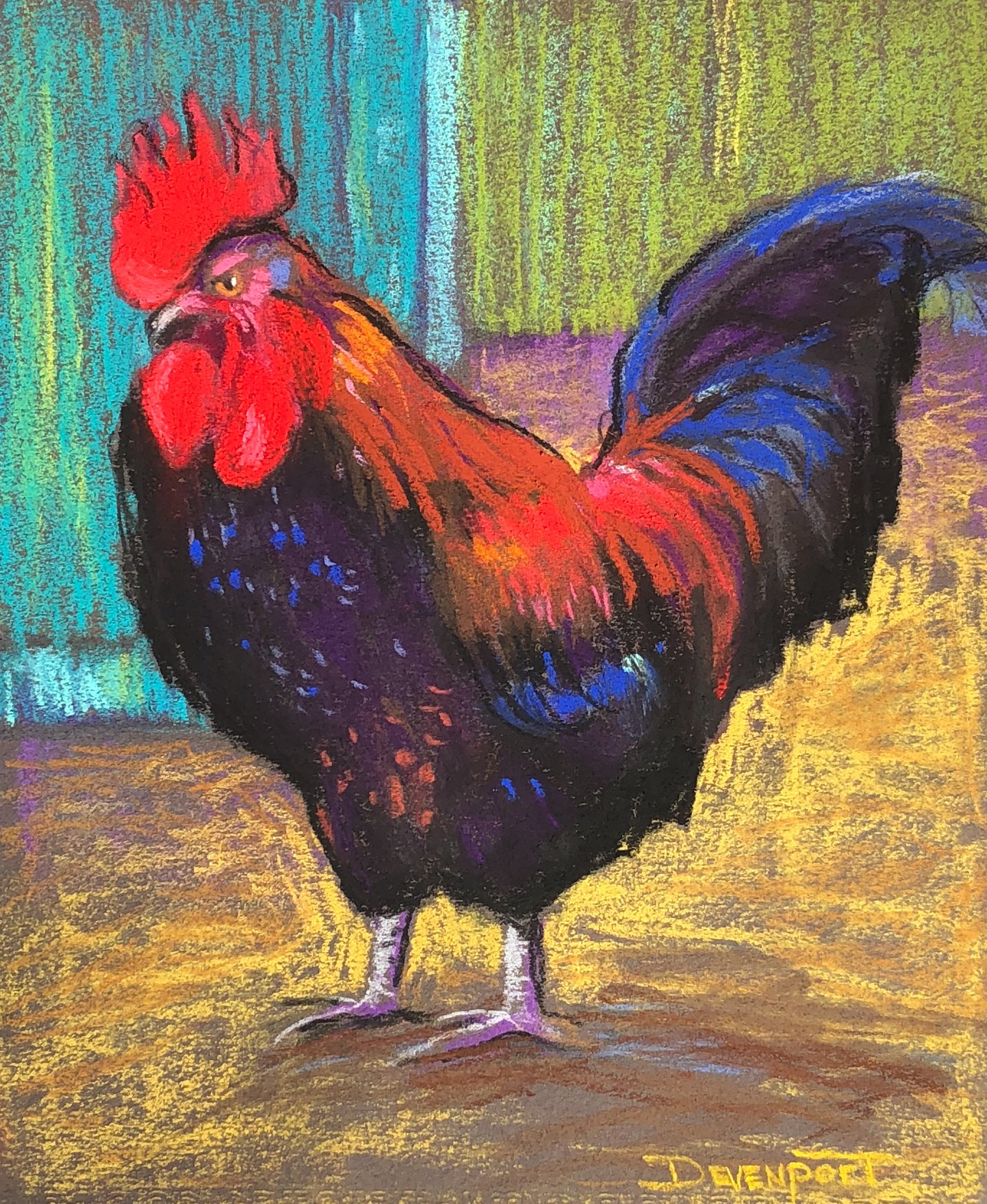 Something to Crow About (pastel) - sold