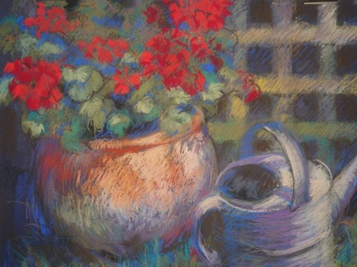 Geraniums (pastel)