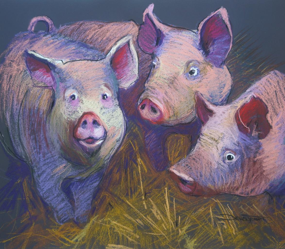 Piggies (pastel)