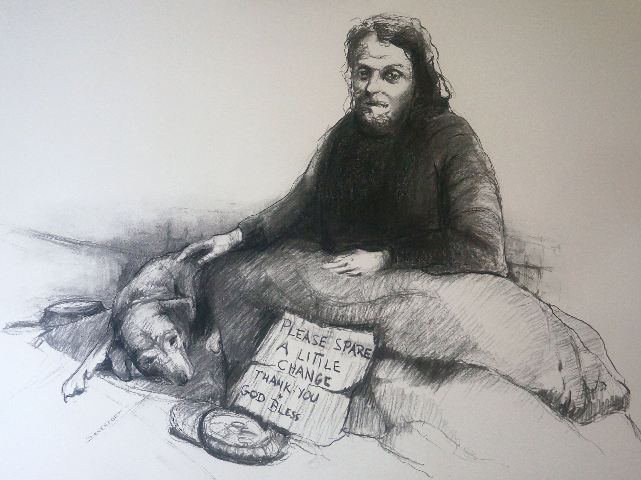 Sydney Homeless (charcoal)