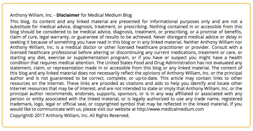 Screenshot from Medical Medium http://www.medicalmedium.com/blog/celery-juice-101