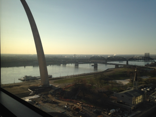 The Mississippi River and The Gateway to the West, aka The Arch.
