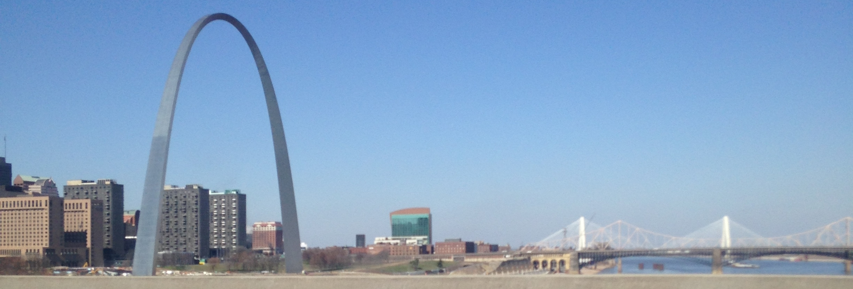 Driving back over the Mississippi River
