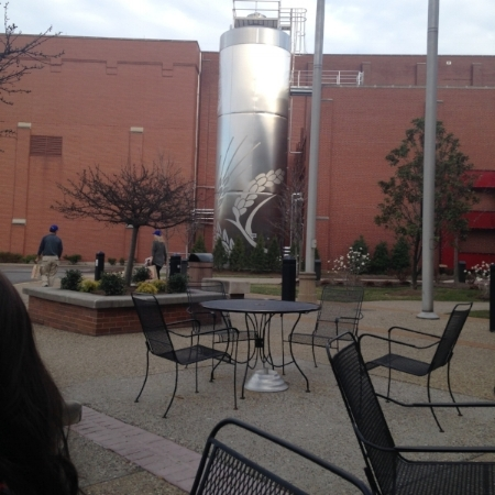 The patio outside of the Brewery