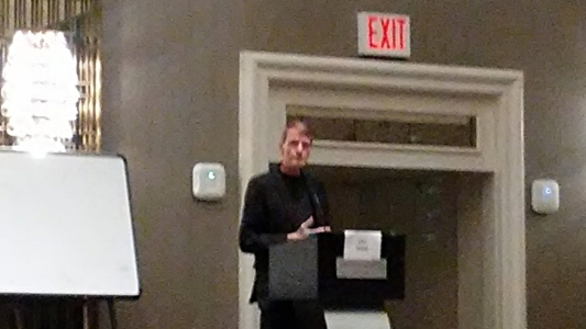 I promise I'll sit closer next year for better pictures of classes and panels. Here's a blurry Lee Child.