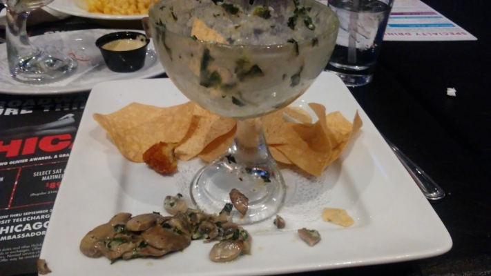 Seriously. What kind of monster puts mushrooms in spinach-artichoke dip?