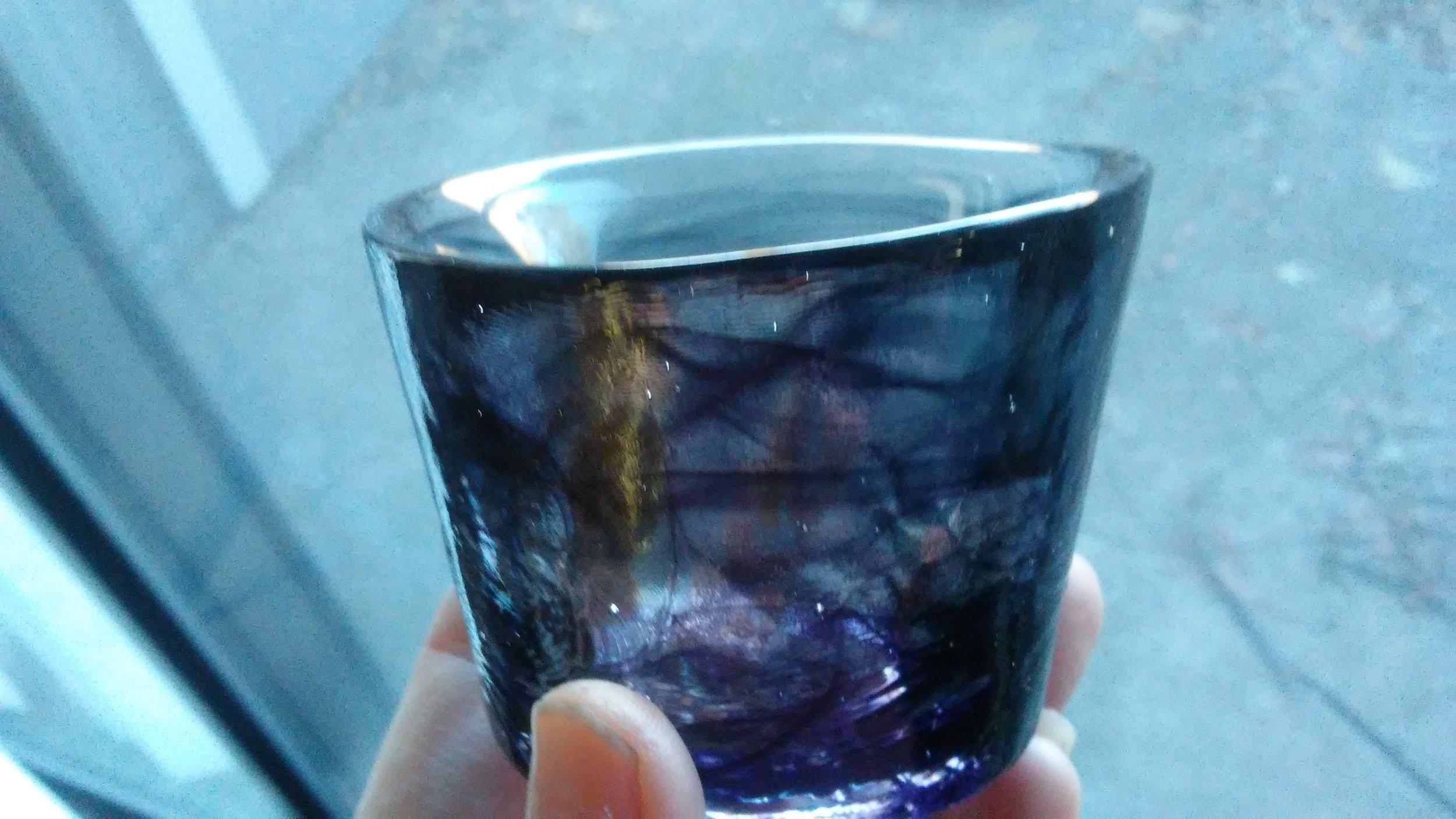 Black swirl Kosta Boda glass