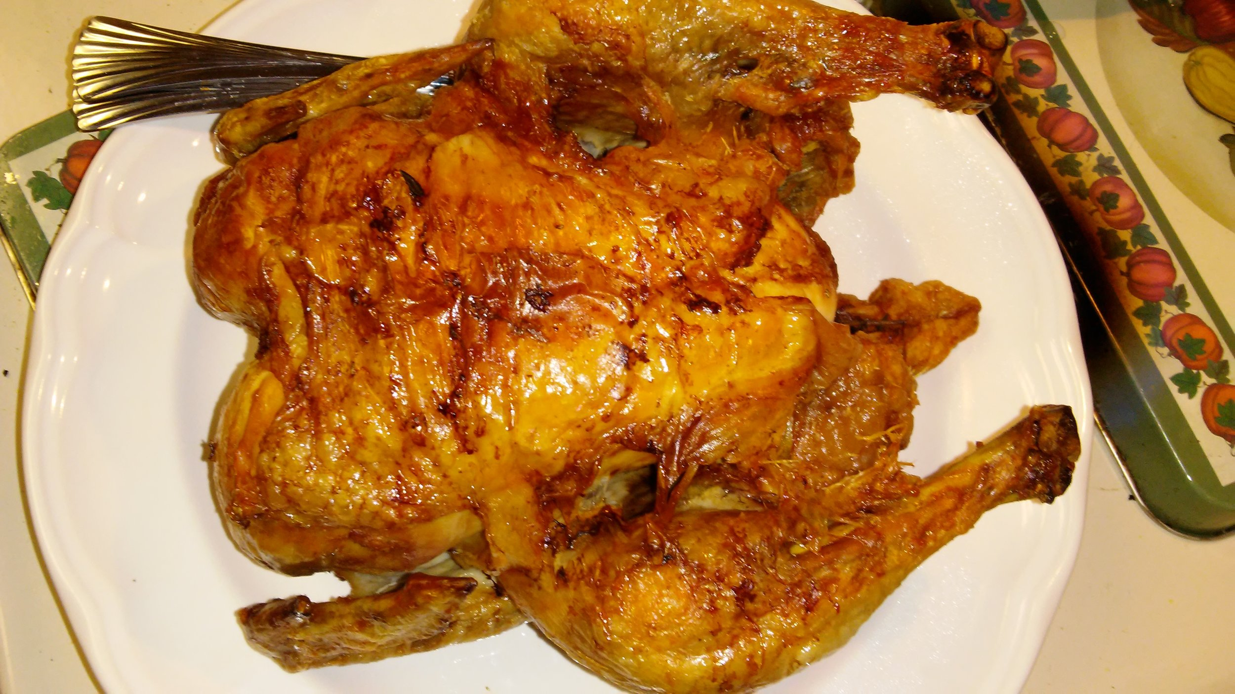 Air-fried organic chicken
